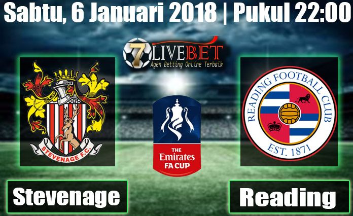 Prediksi Bola Stevenage FC vs Reading English FA Cup Prediksi Bola Stevenage FC vs Reading Sabtu, 06 Januari 2018 Bola, SBOBET