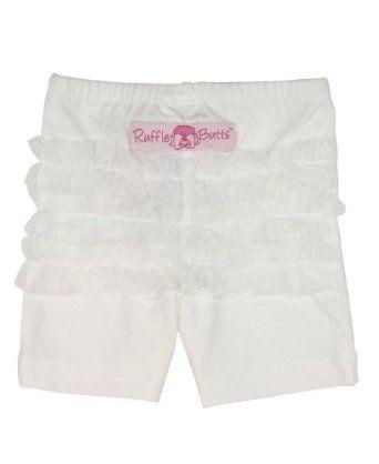 RuffleButts White Playground Shorts - 4T RuffleButts. $19.00