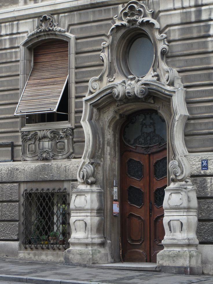 art-nouveau doors. Beograd. Serbia.