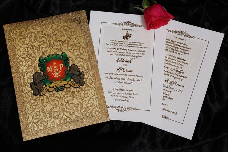 9 best Designer Wedding Cards images on Pinterest Wedding cards