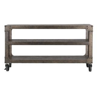 TRIBECCA HOME Galena Industrial Modern Rustic Iron Console Sofa Table TV Stand - Free Shipping Today - Overstock.com - 17525536 - Mobile