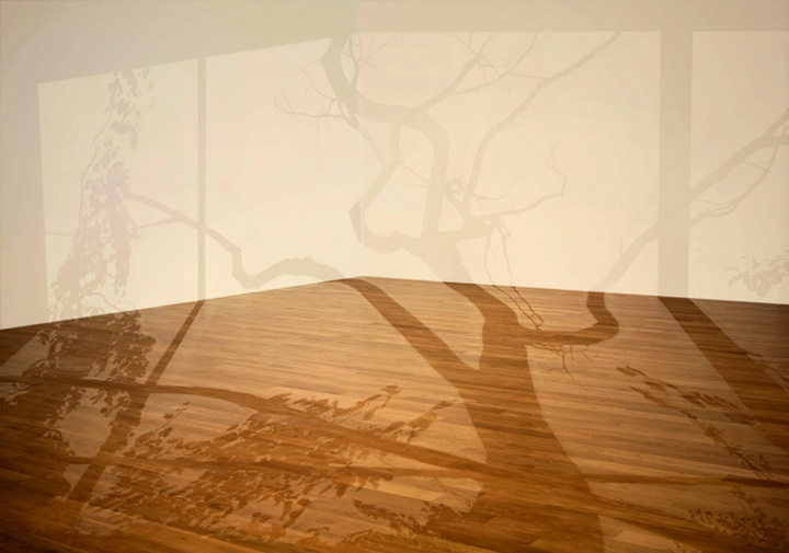 Painted wall creating the illusion of light and shadow ...Mary Temple