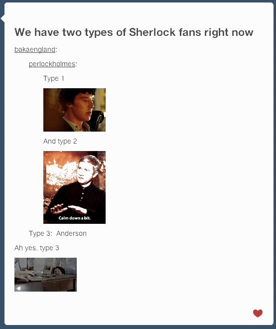 "As anticipated, pretty much NOBODY was emotionally prepared. | Tumblr Reacts To The ""Sherlock"" Season 3 Premiere"