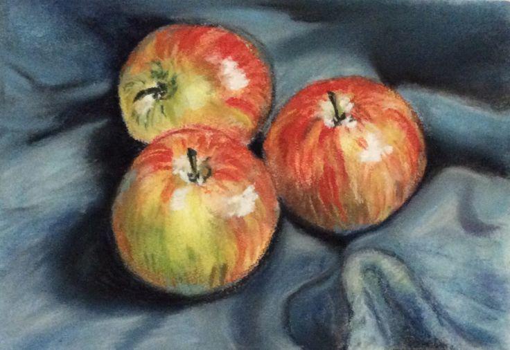 Still life Apples soft pastel