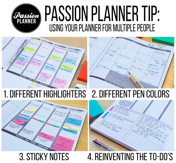 Trying to use one planner for multiple people? Follow the link to see some tips we use to accommodate!