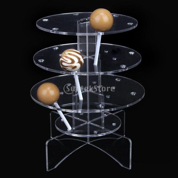 Nouveau 2015 3- 2» 18 trous. acrylique gâteau sucette pop affichage cupcake stand livraison gratuite