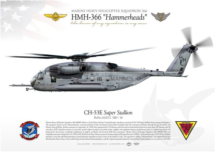 "UNITED STATES MARINE CORPS MARINE HEAVY HELICOPTER SQUADRON 366 (HMH-366) ""Hammerheads""MARINE AIR GROUP 29 Marine Corps Air Station Cherry Point"