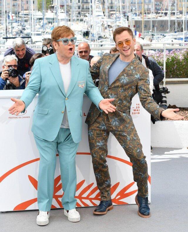 Taron Egerton Takes Style Cues From Elton John at Cannes | Elton john,  Taron egerton, Entertaining