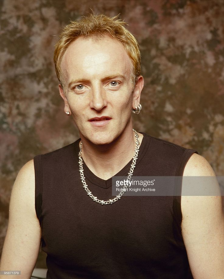 Posed portrait of Phil Collen, guitarist with British band Def Leppard on September 05, 2000.