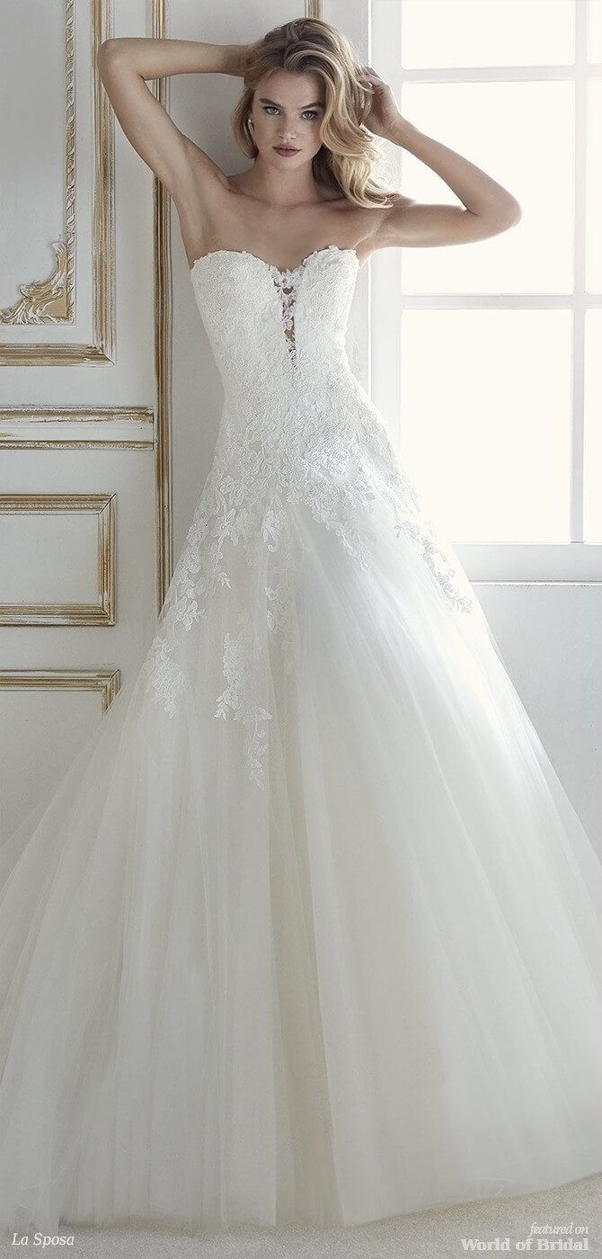 e62778ebc28e Romantic ballgown wedding dress with low waist. A dress that pairs a full skirt  made