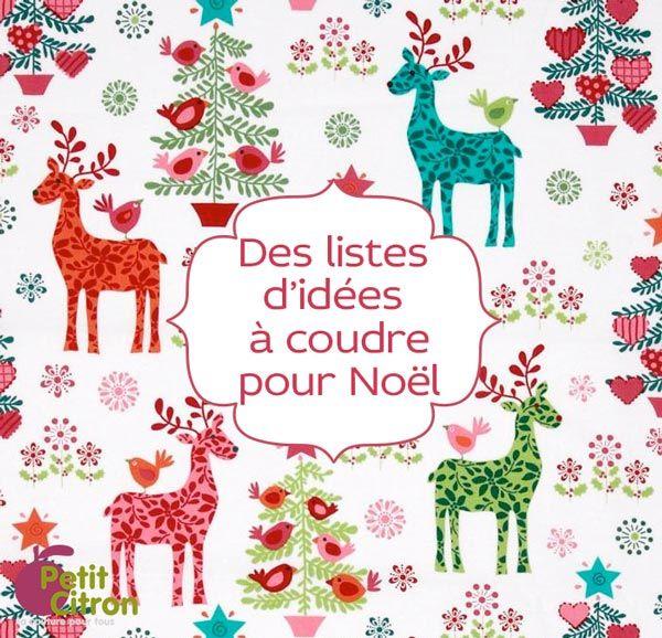 listes d'idées à coudre pour Noël