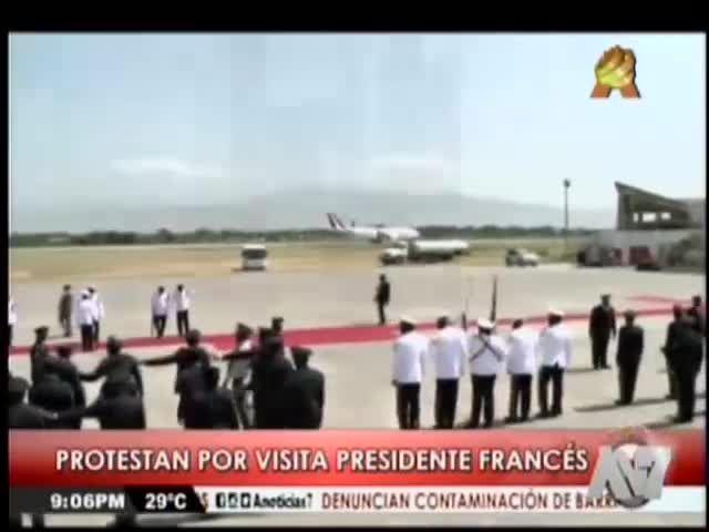 Protestas En Haití Por Visita Del Presidente De Francia #Video