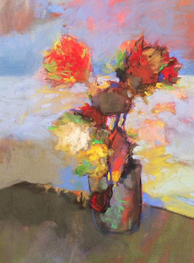 Flower Paintings Oil Pastels