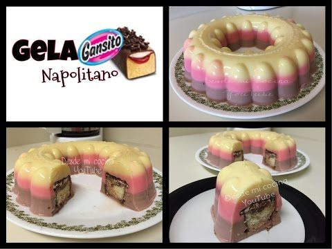 GelaGANSITO Napolitano / Neapolitan Gansito Gelatin - YouTube