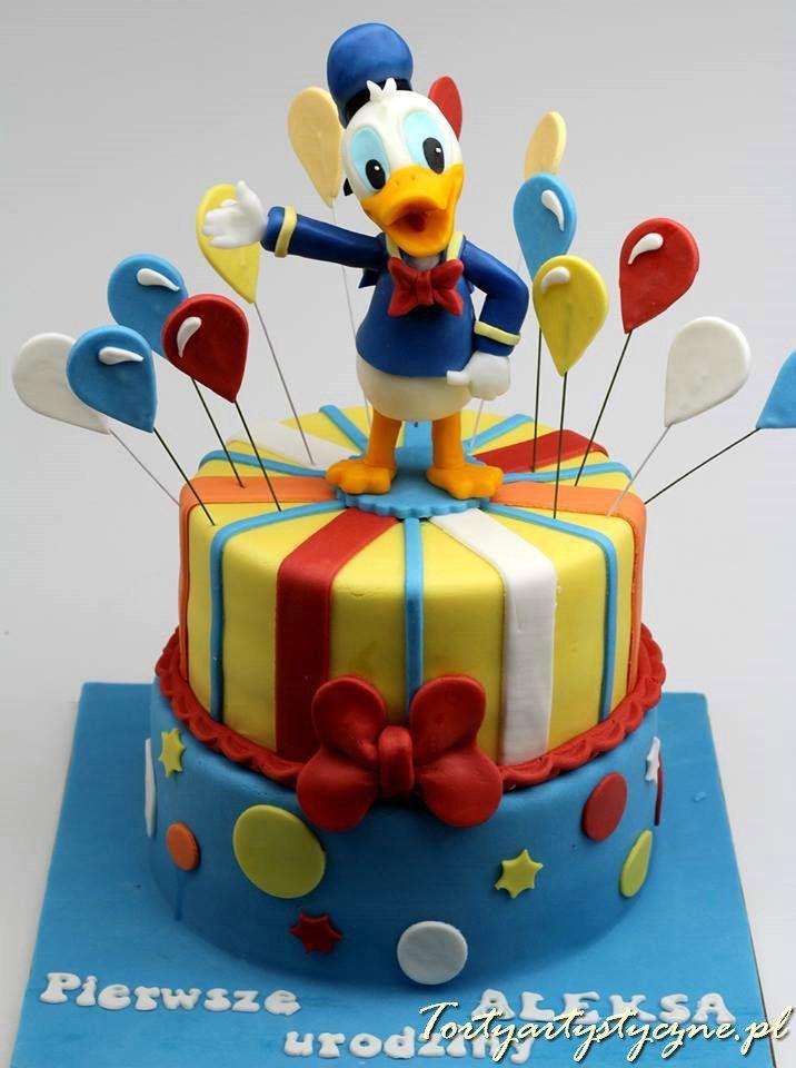 Kaczor Donald tort dla dzieci poznań http://tortyartystyczne.pl/
