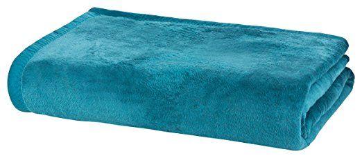 MOON Luxus Wolldecke 60% Baumwolle 40% Acryl Sofaüberwurf Kuscheldecke Wohndecke (150x200, petrol): Amazon.de: Küche & Haushalt