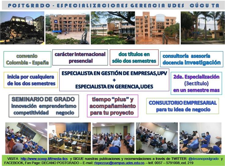 Características Postgrado UDES Cúcuta