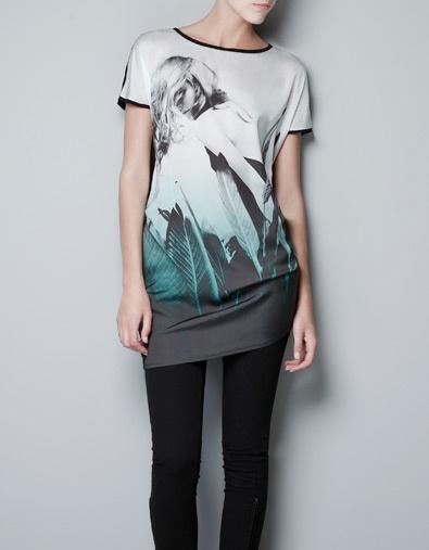PRINTED T-SHIRT - T-shirts - Woman - ZARA United States