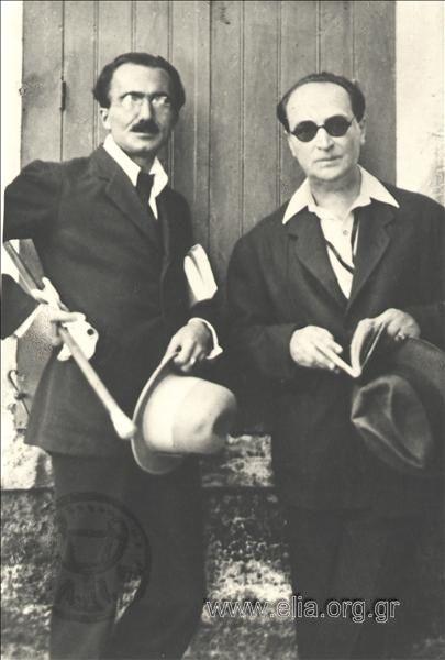 Νίκος Καζαντζάκης και Άγγελος Σικελιανός, 10 Οκτωβρίου 1921.