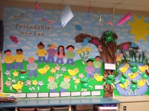 Our Friendship Garden bulletin board from my classroom