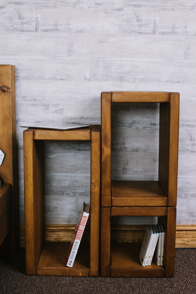 Plank Cube Small Storage Unit Online From Curiosity Interiors Rustic Chunky Wood Cubes Living Furniture Handmade In Derbyshire Uk