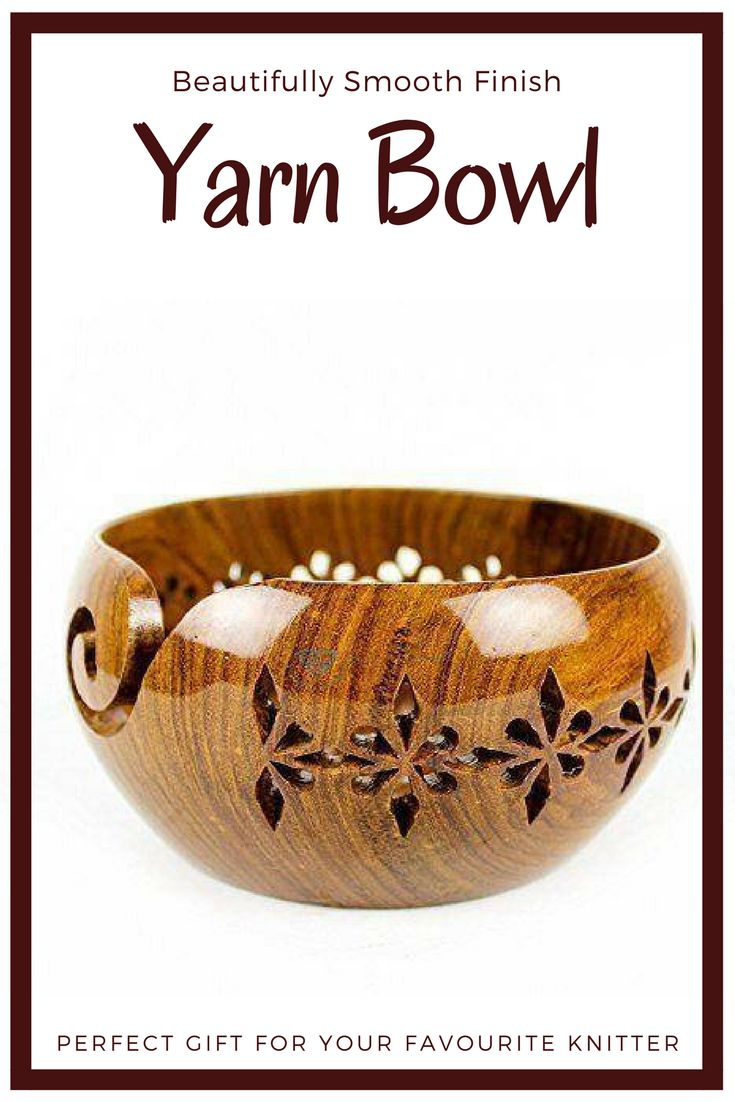 Beautiful yarn bowl.  So smooth and shiny! #affiliate