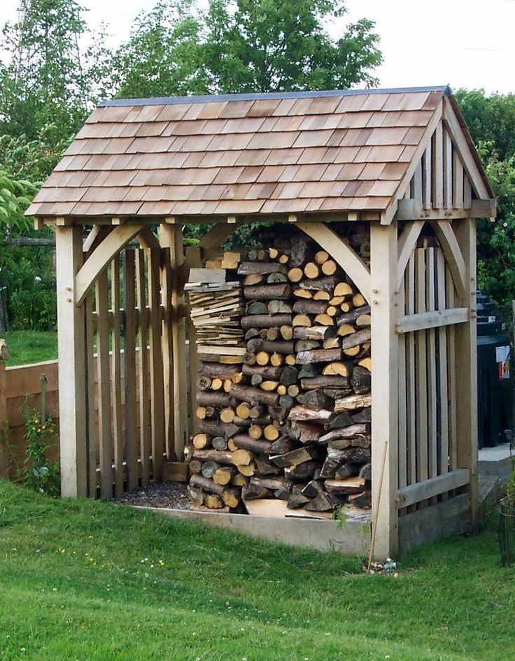 LOG STORE, garden store, solid oak, oak frame, wooden store, traditionally made | eBay