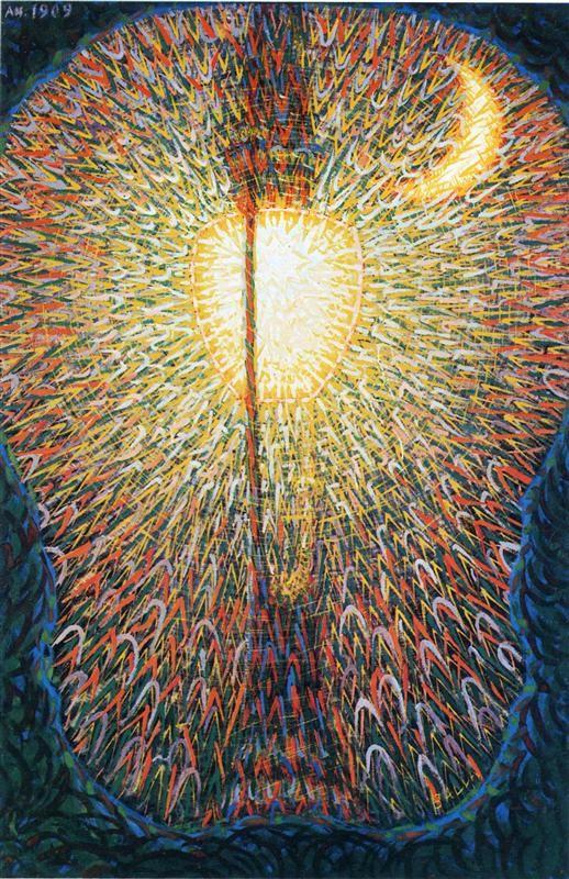 "Giacomo Balla ""Street Light"" 1909 Oil on canvas, Museum of Modern Art, New York"