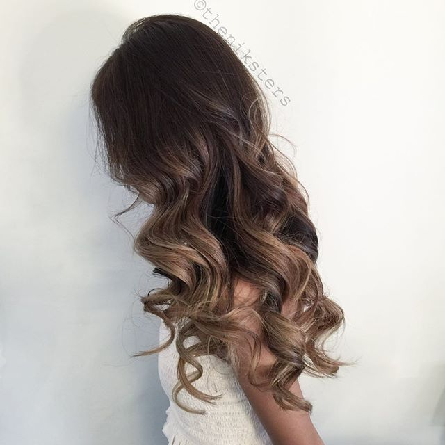 A Natural balayage ombre using Guy Tangs balayage kit!