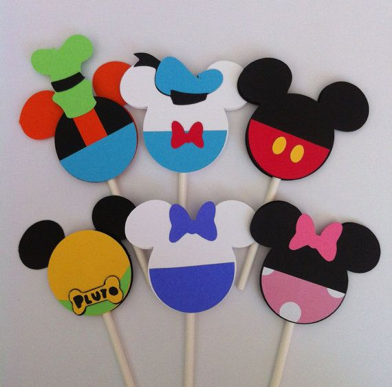 24 Mickey Mouse Clubhouse Cupcake Toppers by Getcreativewithkay