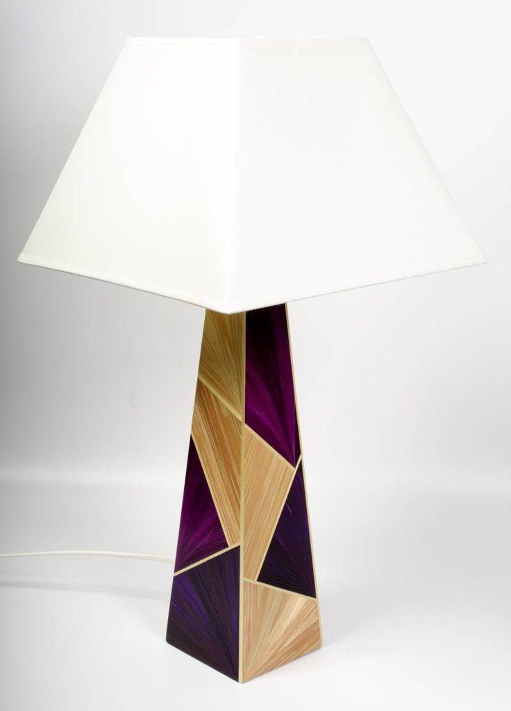 Lampes en marqueterie de paille