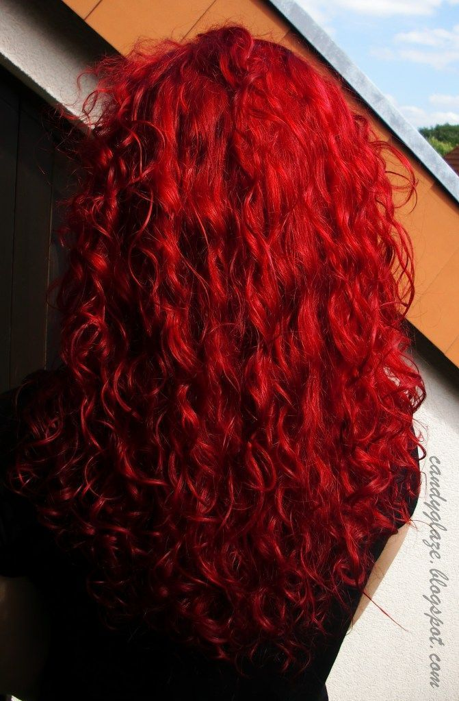 Cabello Rizado Rojo