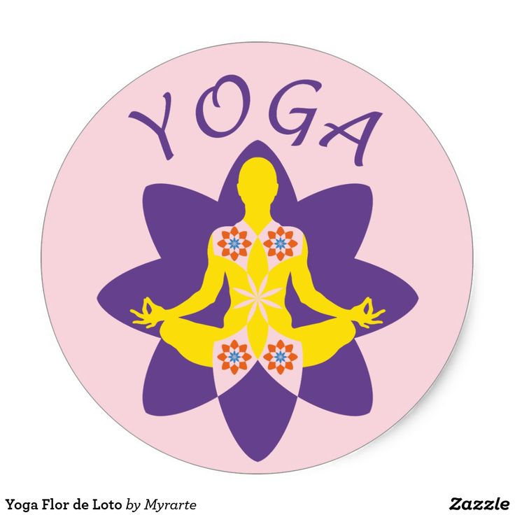 Yoga Flor de Loto. Producto disponible en tienda Zazzle. Product available in Zazzle store. Regalos, Gifts. #sticker #yoga