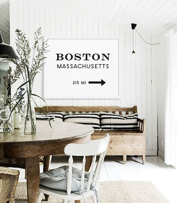 Boston Print Large Art Prints Modern Wall Art by MetropolisPrints