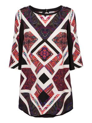 GLOBE 3/4 TUNIC #veromoda #print #tribal #tunic #fashion #style