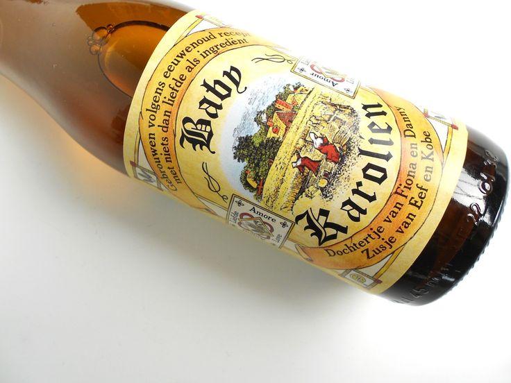 gepersonaliseerde bieretiketten voor #babyborrel #tripelkarmeliet