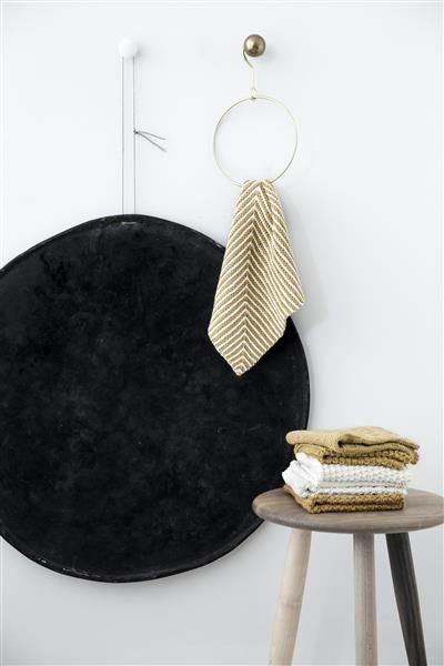 T44: Design 18 Klut i riller med dominostrikk #bomull #cotton #strikk #knit #klut #washing