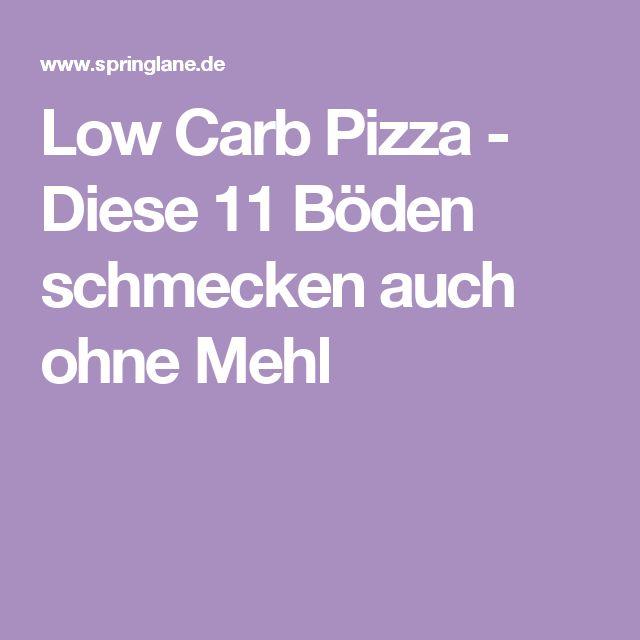 Low Carb Pizza - Diese 11 Böden schmecken auch ohne Mehl