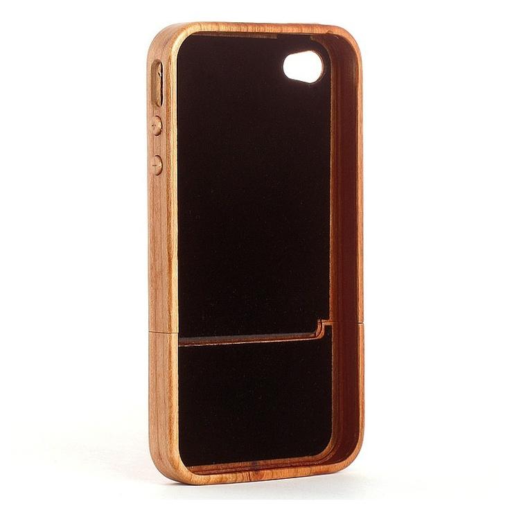 Coque iPhone 4S en bois Naturel Merisier vue intérieure  Une robe en  ~ Coque Bois Iphone