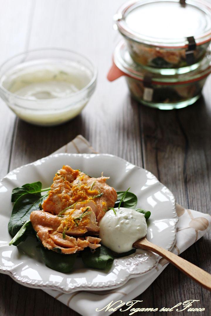 salmone+vasocottura+arancia+spinaci+freschi