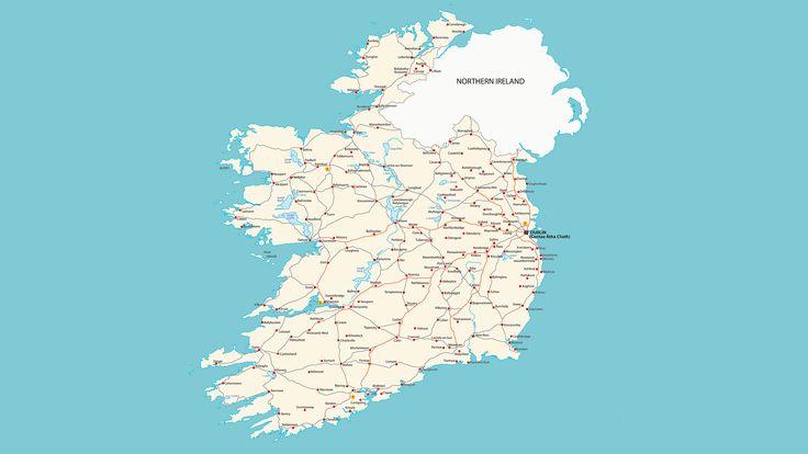 Mapa de carreteras de Irlanda