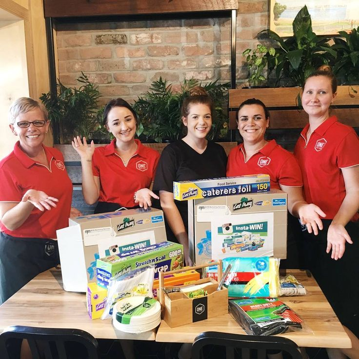 All smiles -  @onestopcafecleveland team with their prize pack. Congratulations. Very nice place.  This is getting so much exciting! #iwantaCastawayPack #instacontest #winnerwinner #onestopcafecleveland #successforyourbrand #getspottedbyCastaway #castawayfoodpackaging
