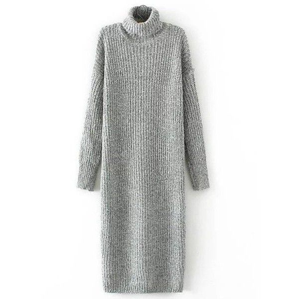 Thick Turtleneck Long Sleeve Sweater Dress ($34) ❤ liked on Polyvore featuring dresses, white long sleeve turtleneck, long sleeve turtleneck dress, long-sleeve turtleneck dresses, long-sleeve sweater dresses and long sleeve sweater dress