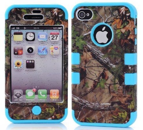 $5.99 - Cell N Stuff® 3 in 1 Green Camo With Gel Realtree Hunting Camouflage High Impact Shock Defender Plastic Outside With Silicone Inside 3 in1 2D Hard Case Phone Cover For iPhone 4/4S (CAMO/TEAL) Cell N Stuff®,http://www.amazon.com/dp/B00GUV6JS0/ref=cm_sw_r_pi_dp_WseKsb144YS45CBV