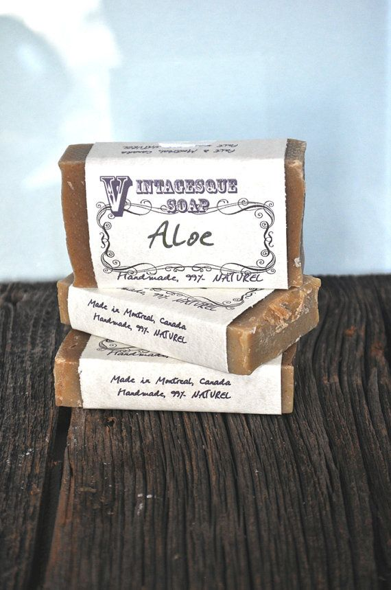Aloe Soap Summer soapVegan SoapHandmade Cold by VintagesqueSoap