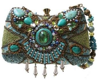 Mary Frances Byzantine Empire Blue & Green Convertible Clutch Handbag