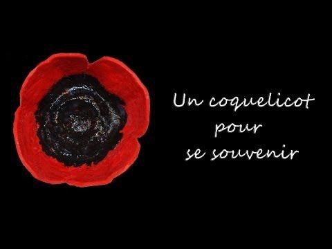 Un coquelicot pour se souvenir!  Faites-en une broche par exemple. #coquelicot  #Animassiettes #tutoriel #veteran #DIY #video