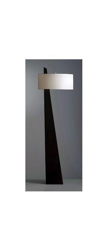 Nova Lighting 11891 63 Inch Transitional Floor Lamp with White Linen Shade from Chestnut Lamps Floor Lamps Floor Lamps