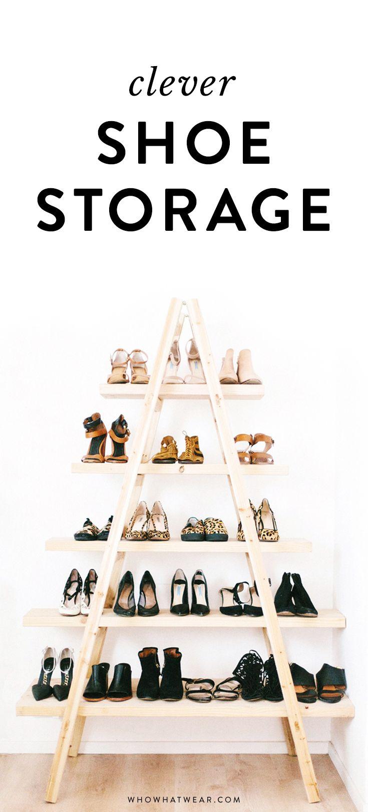 Shoe organization 101: Clever shoe storage ideas.