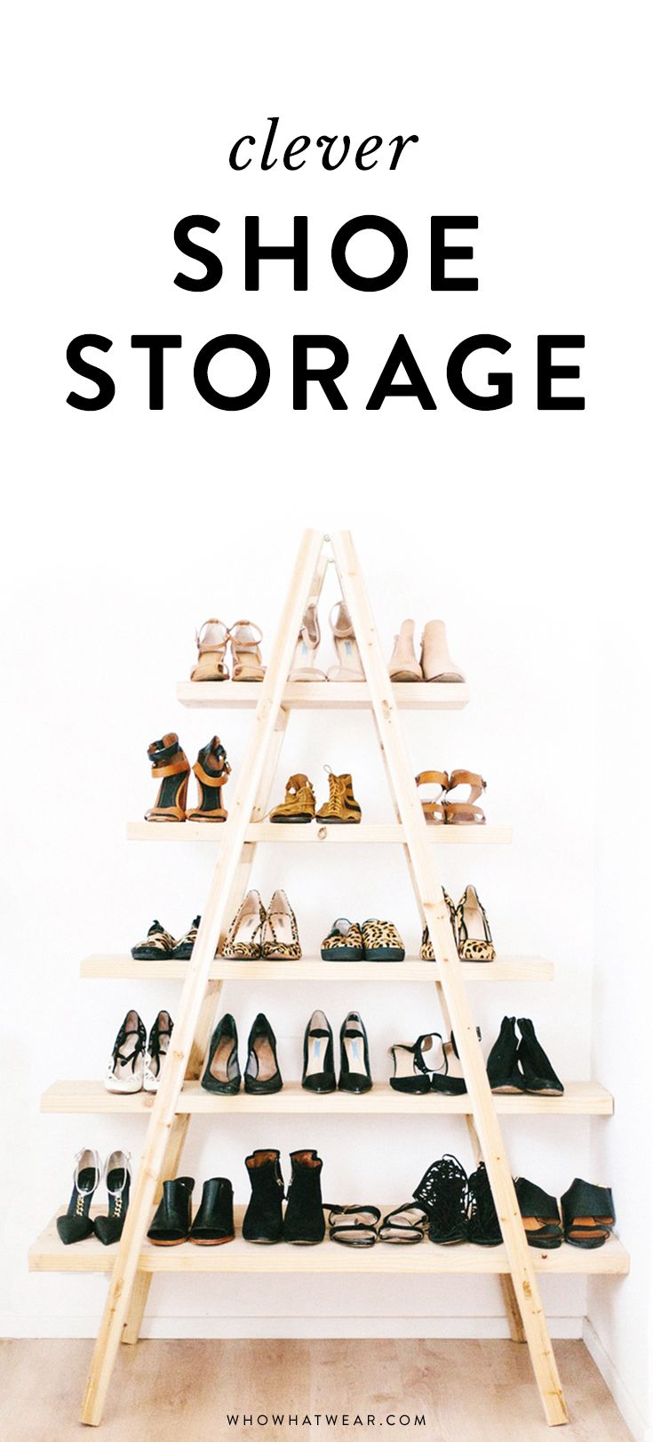 Shoe organization 101: Clever shoe storage ideas.